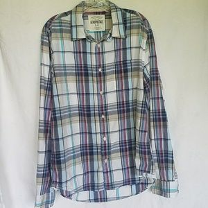 Aeropostale plaid collared button down long sleeve